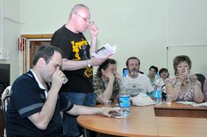 Участники фестиваля КРАСНАЯ ГОРА в районной библиотеке