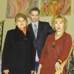 Члены жюри писателей Елена Кубаевская - Вадим Бакулин - Диана Кан после мероприятия
