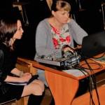 Директор Дома культуры Татьяна Орлянская и поэтесса Валерия Донец - перед началом мероприятия