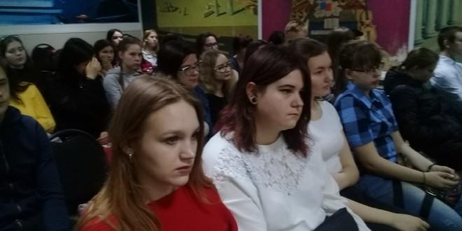 Выступление Виталия Молчанова в библиотеке им. Н. А. Некрасова