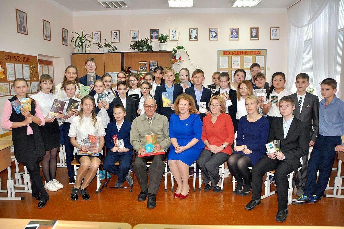 Пётр Краснов в Чернореченскойсредней общеобразовательной школе (2)